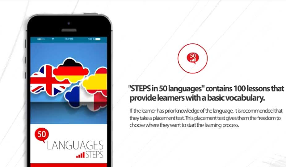 Learn languages online or with Android and iPhone app for free